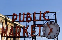 Pike Place market. Seattle famous place Royalty Free Stock Photos