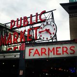 Pike place market clock royalty free stock images