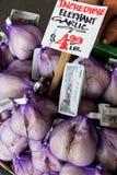 Pike Place Market. Elephant Garlic Royalty Free Stock Image