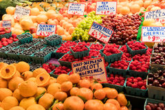 Pike Place Market. Fruit Section royalty free stock photo
