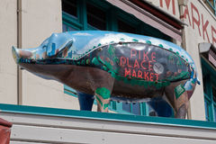 Pike Place Market Pig Seattle Stock Image
