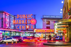 Pike Place Market Seattle Royalty Free Stock Photos