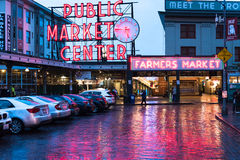 Pike Place Market in Seattle Washington Stock Photos