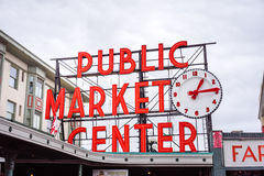 Pike Place Market Sign Stock Image