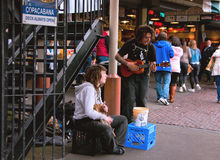 Pike Place Market Street Performers. Royalty Free Stock Photography