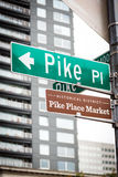 Pike Place Market street sign at marketplace Royalty Free Stock Images