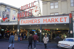 Pike Place Public Farmers Market, Seattle, WA Royalty Free Stock Photo
