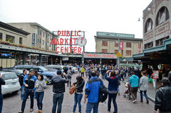 Pike Place Public Market cetner in Seattle Stock Photo