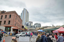 Pike Place Public Market cetner in Seattle Stock Image