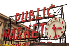 Pike Place Public Market Sign Stock Image
