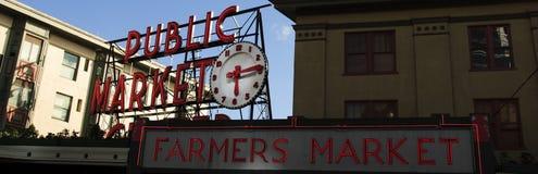 Pike-Platz-Landwirt-Markt-Tag Stockbild