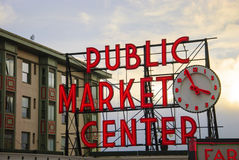 Pike-Platz-Landwirt-Markt-Tag Lizenzfreie Stockbilder