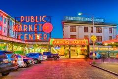 Pike-Platz-Markt Seattle stockbild