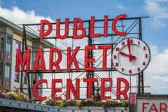 Pike-Platz-Markt-Zeichen Lizenzfreies Stockbild