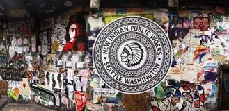 Pike-Platz-Straße Art Feb 2015 Lizenzfreie Stockbilder