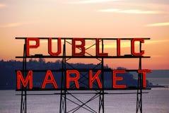 Pike-Platzmarkt Lizenzfreie Stockbilder