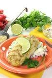 Pike with potato salad Stock Image