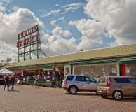 Pike setzen Markt von der Straße stockbild