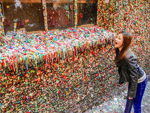 Pike Street Market Gum Wall Stock Images