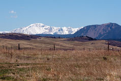 Pikes Peak. From Greenland Open Space Royalty Free Stock Images
