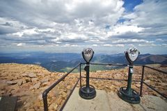 Pikes Peak Binoculars Royalty Free Stock Photography