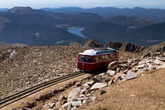 Pikes Peak Cog Railway Stock Photo