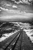 Pikes peak cog railway in winter Royalty Free Stock Photography