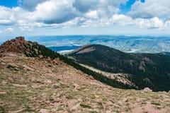 Pikes peak colorado rocky mountains Royalty Free Stock Photos