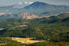 Pikes Peak, Colorado. A view from Staunton State Park, in Pine, Colorado.  Foothills lead to Pikes Peak in the distance Stock Image