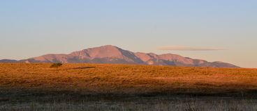 Pikes Peak At Dawn Stock Photography