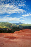 Pikes Peak from Garden Of The Gods royalty free stock photos
