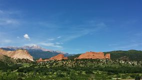 Pikes Peak and Garden of the Gods Colorado stock image