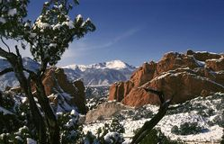 Pikes Peak and Garden of the Gods Royalty Free Stock Photo