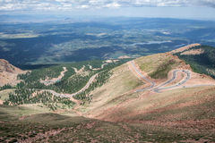 Pikes peak highway on mountain Stock Images