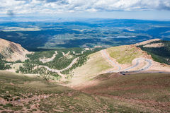 Pikes peak highway on mountain Royalty Free Stock Images
