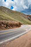 Pikes peak highway on mountain Royalty Free Stock Photos