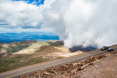 Pikes peak highway on mountain Stock Photo