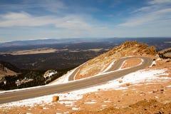 Pikes Peak - hoogste top van zuidelijk Front Range van Rocky Mountains, Colorado, Verenigde Staten royalty-vrije stock fotografie