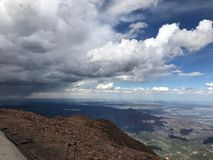 Pikes Peak Colorado Springs rain and thunder storm Royalty Free Stock Photography