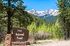 Pikes Peak National Forest Sign Stock Photos