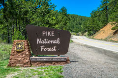 Pikes Peak National Forest Sign Royalty Free Stock Images