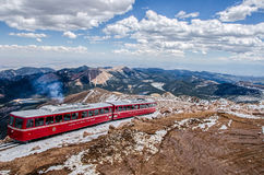 Pikes Peak railway Royalty Free Stock Images
