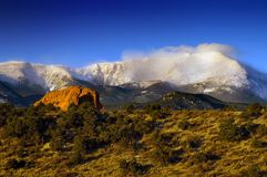 Pikes Peak in the snow Royalty Free Stock Photography