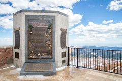 Pikes Peak Summit - America the Beautiful Monument Royalty Free Stock Photography