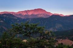 Pikes Peak at Sunrise Royalty Free Stock Images