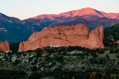 Pikes Peak Sunrise Royalty Free Stock Image