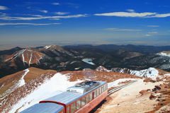 Pikes Peak Train Royalty Free Stock Photo