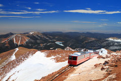 Pikes Peak Train Royalty Free Stock Photos