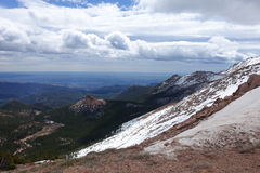 Pikes Peak. View of snow and clouds from Pikes Peak Stock Photography