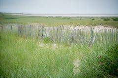 Piketomheining bij het strand in kaapkabeljauw Stock Foto